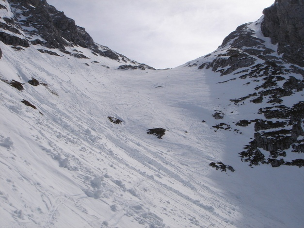 Foto: Manfred Karl / Ski Tour / Schneibstein, Bockskehl Abfahrt / Steiler oberer Teil der Bockskehl, wenn guter und sicherer Schnee liegt - eine Genussabfahrt / 28.01.2009 22:52:17