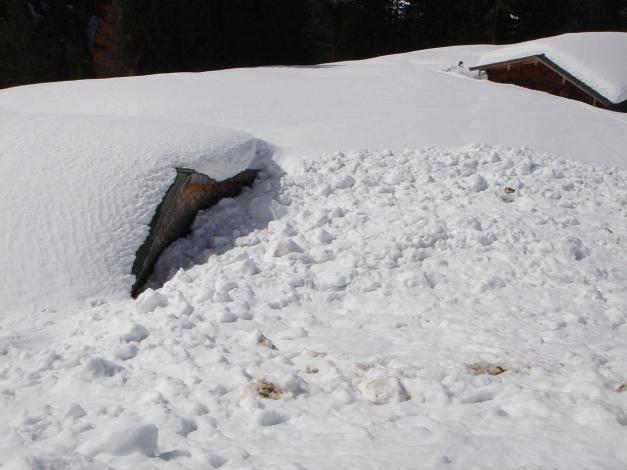 Foto: Manfred Karl / Ski Tour / Schneibstein, Bockskehl Abfahrt / Das war knapp! / 28.01.2009 22:48:51