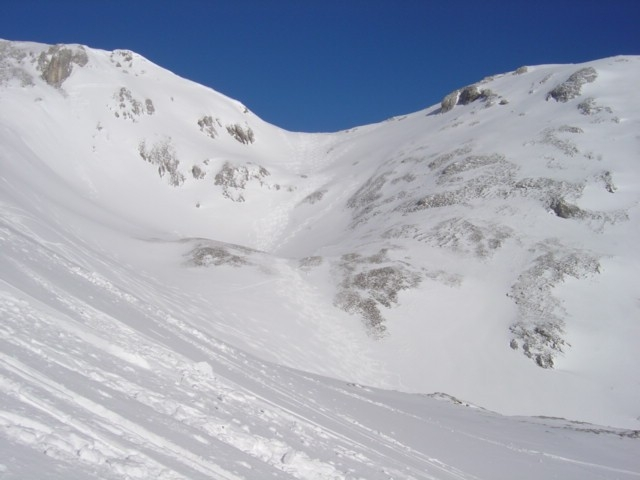 Foto: Manfred Karl / Ski Tour / Schartwand, 2339 m und Brietkogel, 2316 m / Links Schartwand, rechts Brietkogel / 29.01.2009 19:10:24