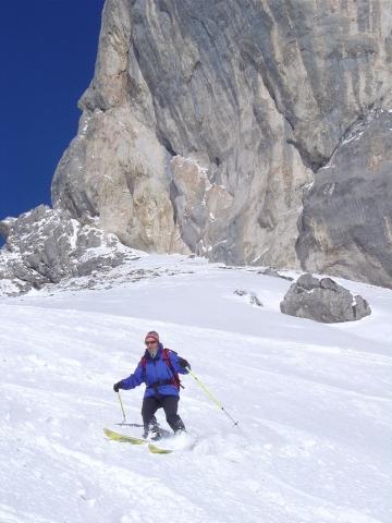Foto: Manfred Karl / Ski Tour / Schartwand, 2339 m und Brietkogel, 2316 m / Unterhalb der Wände des Napf / 29.01.2009 19:06:06