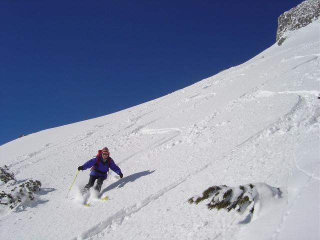 Foto: Manfred Karl / Ski Tour / Schartwand, 2339 m und Brietkogel, 2316 m / Schöne Hänge leiten zur eigentlichen Einfahrt in die Rinne / 29.01.2009 19:05:39