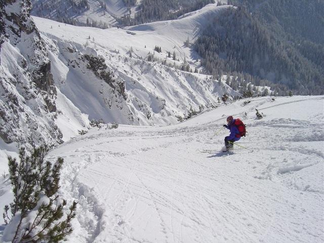 Foto: Manfred Karl / Ski Tour / Schartwand, 2339 m und Brietkogel, 2316 m / Oberhalb der Querung in die Rinne / 29.01.2009 19:05:07