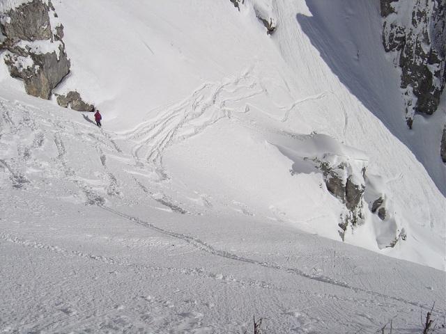 Foto: Manfred Karl / Ski Tour / Schartwand, 2339 m und Brietkogel, 2316 m / Steile Einfahrt / 29.01.2009 19:03:58