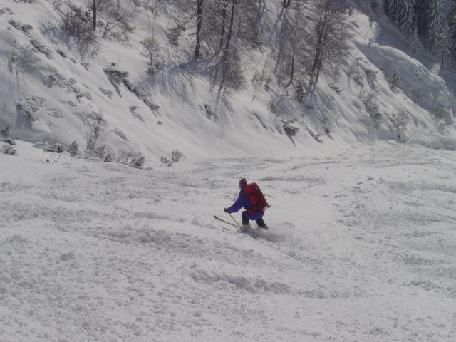 Foto: Manfred Karl / Ski Tour / Schartwand, 2339 m und Brietkogel, 2316 m / Unterer Teil der Rinne / 29.01.2009 19:01:17