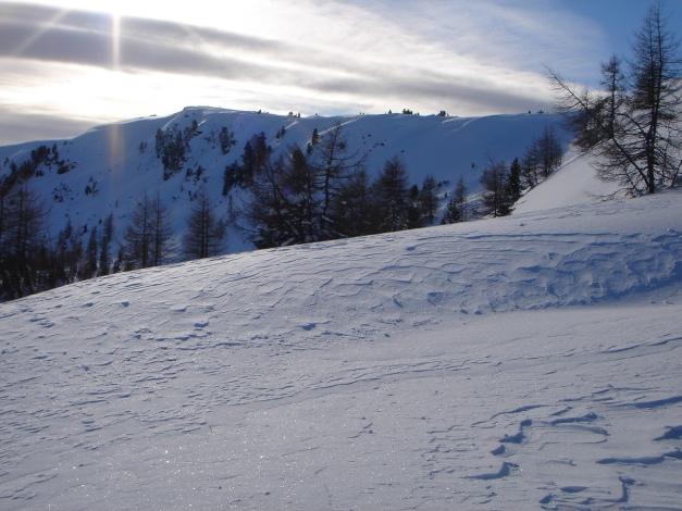 Foto: Manfred Karl / Ski Tour / Über die Steffeialm auf den Wirtsnock / Blick zur Gratverbindung Wirtsnock - Punkt 2060 / 29.01.2009 19:50:10
