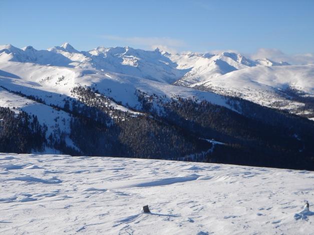 Foto: Manfred Karl / Ski Tour / Über die Steffeialm auf den Wirtsnock / Ankogelgruppe mit Schober links und Hafner in Bildmitte / 29.01.2009 19:45:03