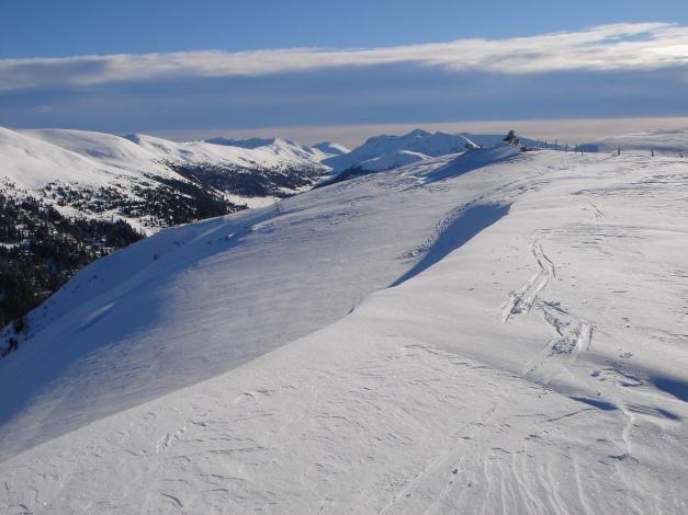 Foto: Manfred Karl / Ski Tour / Über die Steffeialm auf den Wirtsnock / Nockberge  über dem Schönfeld / 29.01.2009 19:44:01