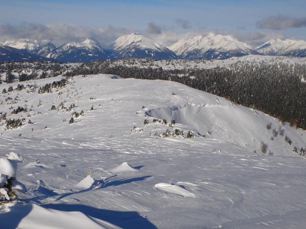 Foto: Manfred Karl / Ski Tour / Über die Steffeialm auf den Wirtsnock / Blick vom Punkt 2060 über den Wirtsnock in die Schladminger Tauern / 29.01.2009 19:42:58