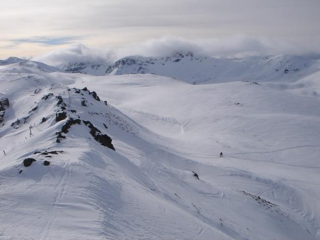 Foto: Manfred Karl / Ski Tour / Rosaninhöhe, 2280 m / Anstieg zum Gipfelgrat / 29.01.2009 20:41:30