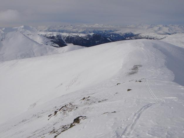 Foto: Manfred Karl / Ski Tour / Rosaninhöhe, 2280 m / Blick vom Gipfel nach Westen / 29.01.2009 20:41:00