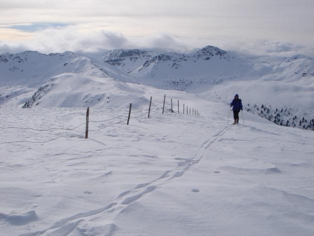 Foto: Manfred Karl / Ski Tour / Rosaninhöhe, 2280 m / Gipfelgrat / 29.01.2009 20:39:16
