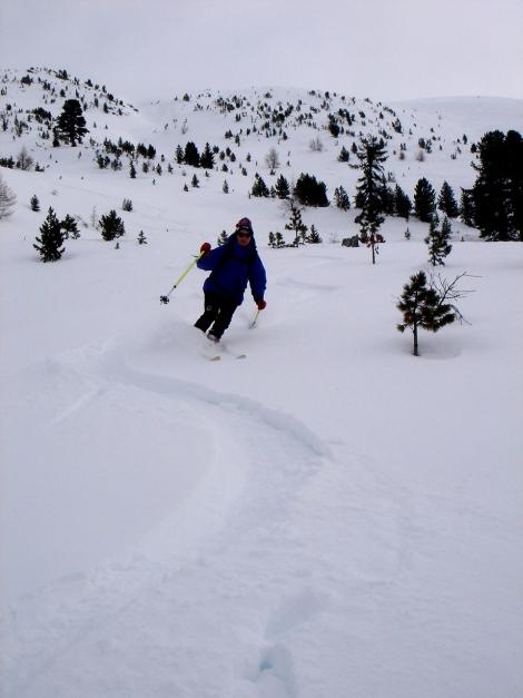Foto: Manfred Karl / Ski Tour / Rosaninhöhe, 2280 m / Schöne Abfahrt trotz schlechter Sicht / 29.01.2009 20:37:19