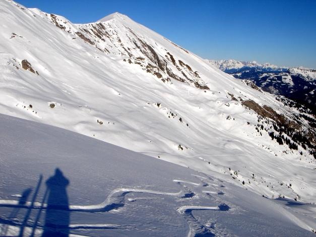 Foto: Manfred Karl / Ski Tour / Drei Gipfel im ruhigeren Eck der Toferer Alm / Frauenkogel vom Finsterkopf / 29.01.2009 21:37:07