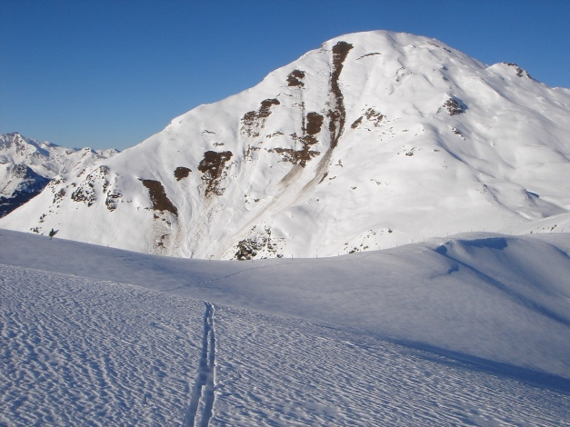 Foto: Manfred Karl / Ski Tour / Drei Gipfel im ruhigeren Eck der Toferer Alm / Gamskarkogel vom Finsterkopf / 29.01.2009 21:34:31