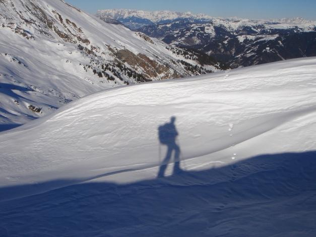 Foto: Manfred Karl / Ski Tour / Drei Gipfel im ruhigeren Eck der Toferer Alm / Nochmaliger Aufstieg zum Finsterkopf / 29.01.2009 21:34:07
