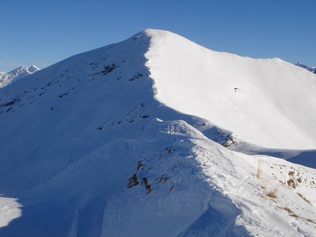 Foto: Manfred Karl / Ski Tour / Drei Gipfel im ruhigeren Eck der Toferer Alm / Kreuzkogel mit dem Anstieg über den Westgrat / 29.01.2009 21:33:21