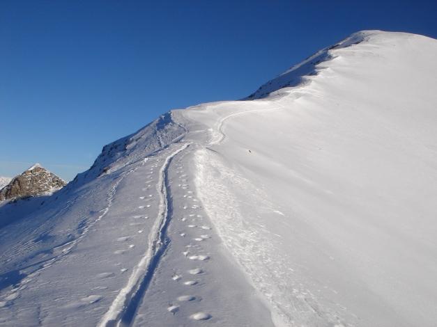 Foto: Manfred Karl / Ski Tour / Drei Gipfel im ruhigeren Eck der Toferer Alm / Am Westgrat / 29.01.2009 21:32:03