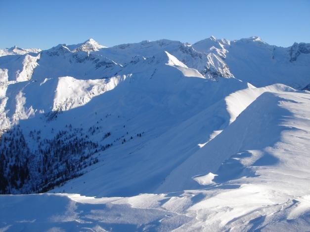 Foto: Manfred Karl / Ski Tour / Drei Gipfel im ruhigeren Eck der Toferer Alm / Blick nach Südosten gegen Keeskogel - Ankogel / 29.01.2009 21:29:23
