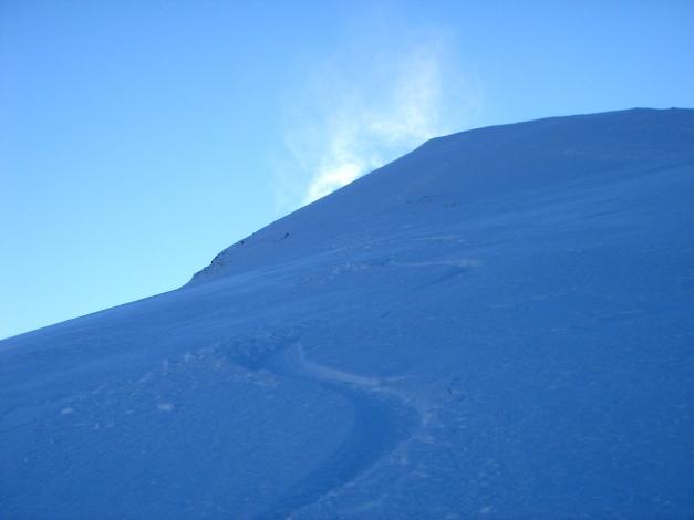 Foto: Manfred Karl / Ski Tour / Drei Gipfel im ruhigeren Eck der Toferer Alm / Gipfelhang des Kreuzkogels / 29.01.2009 21:27:28