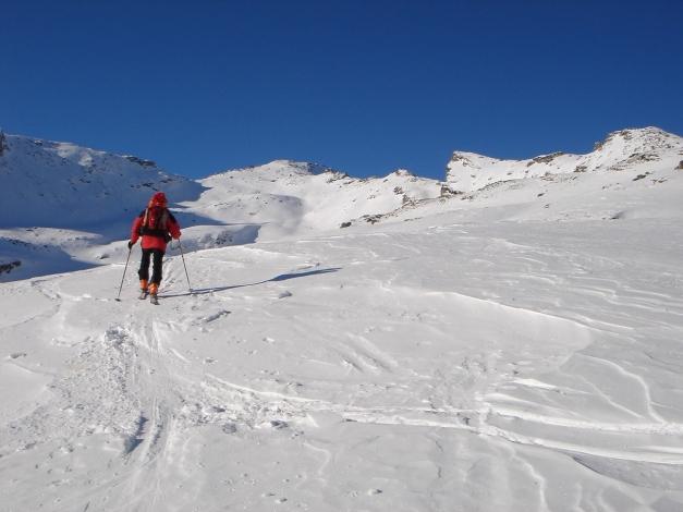 Foto: Manfred Karl / Ski Tour / Seemannwand, 2822 m / Der weitere Weg zum Gipfel öffnet sich / 29.01.2009 22:14:24