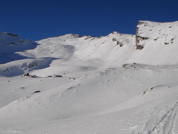 Foto: Manfred Karl / Ski Tour / Seemannwand, 2822 m / Der Anstieg zieht sich noch / 29.01.2009 22:13:07