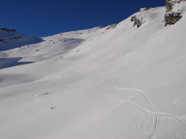 Foto: Manfred Karl / Ski Tour / Seemannwand, 2822 m / Querung vom Lasörnsee Richtung Gipfelhang / 29.01.2009 22:12:24