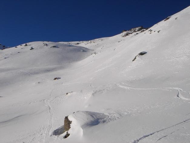 Foto: Manfred Karl / Ski Tour / Seemannwand, 2822 m / Beginn des Gipfelhanges / 29.01.2009 22:11:20