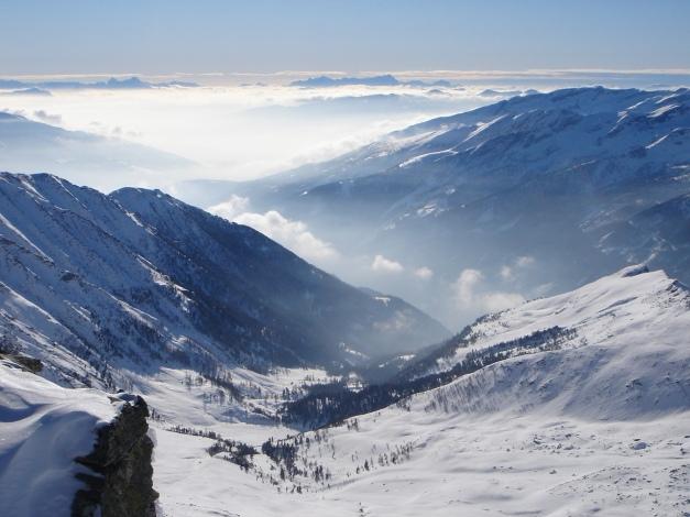 Foto: Manfred Karl / Ski Tour / Seemannwand, 2822 m / Blick über das Kar der Perschitz nach Süden / 29.01.2009 22:07:22