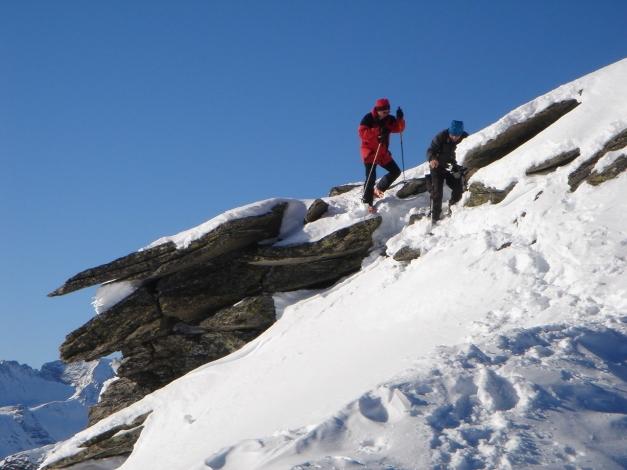 Foto: Manfred Karl / Ski Tour / Seemannwand, 2822 m / Eine mitunter etwas heikle Stelle / 29.01.2009 22:03:38