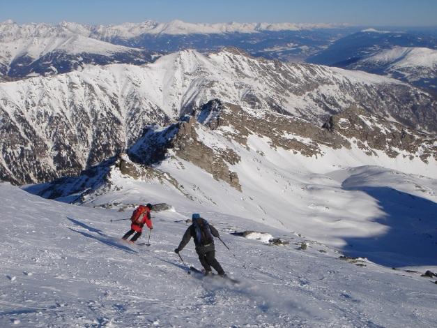 Foto: Manfred Karl / Ski Tour / Seemannwand, 2822 m / Der lange Gipfelhang / 29.01.2009 22:01:44