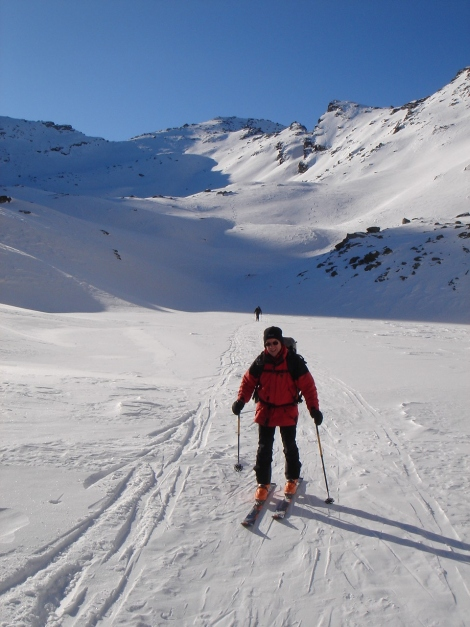 Foto: Manfred Karl / Ski Tour / Seemannwand, 2822 m / Überquerung des zugefrorenen Lasörnsees / 29.01.2009 22:00:26