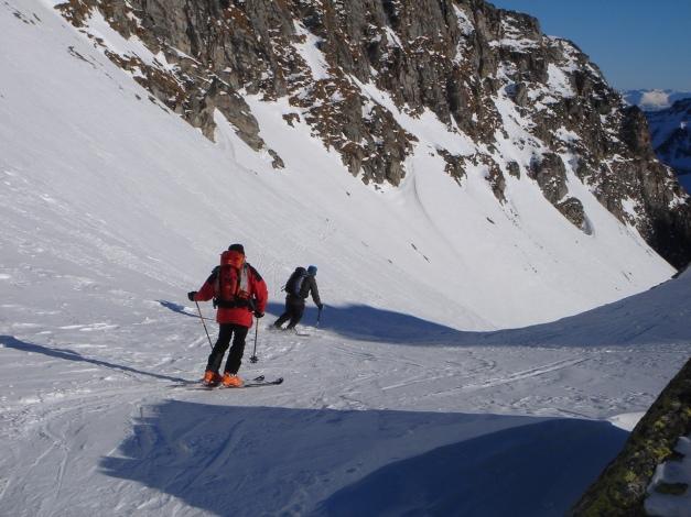 Foto: Manfred Karl / Ski Tour / Seemannwand, 2822 m / Die Rinne beginnt beim Lasörnsee / 29.01.2009 21:59:58
