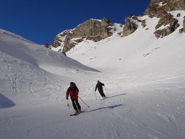 Foto: Manfred Karl / Ski Tour / Seemannwand, 2822 m / Mittelteil der schönen Rinne / 29.01.2009 21:59:28