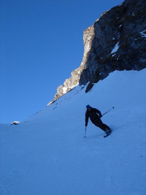 Foto: Manfred Karl / Ski Tour / Seemannwand, 2822 m / Tragfähiger Harsch in der breiten Rinne / 29.01.2009 21:58:40