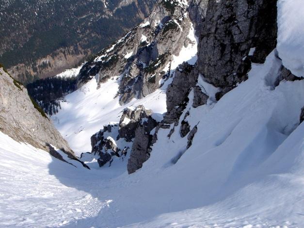 Foto: Manfred Karl / Ski Tour / DER Strichkogelklassiker über das Sulzkar und das Tiefenkar / Östliche Strichkogelrinne ins Weitkar / 29.01.2009 22:36:55