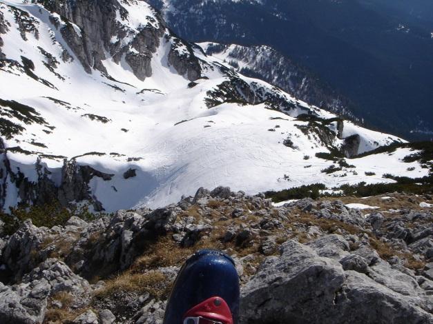 Foto: Manfred Karl / Ski Tour / DER Strichkogelklassiker über das Sulzkar und das Tiefenkar / Blick vom Gipfel auf das obere Tiefenkar / 29.01.2009 22:35:01