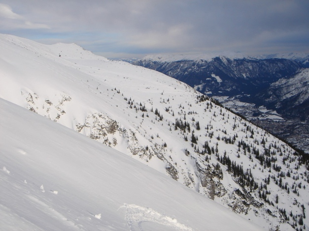 Foto: Manfred Karl / Ski Tour / Gamsknogel / Gamsknogl, 1750 m / Abfahrt vom Zwiesel / Zenokopf / 30.01.2009 21:37:36