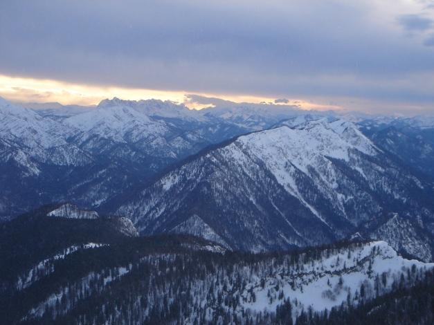 Foto: Manfred Karl / Ski Tour / Gamsknogel / Gamsknogl, 1750 m / Blick nach Westen zum Wilden Kaiser / 30.01.2009 21:36:13