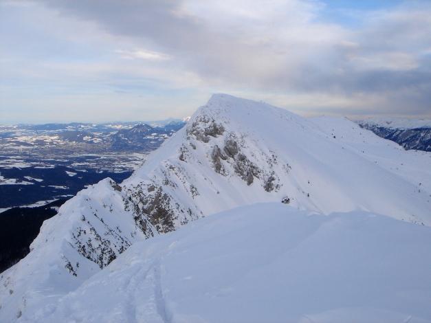 Foto: Manfred Karl / Ski Tour / Gamsknogel / Gamsknogl, 1750 m / Der Verbindungsgrat zum Zwieselstaufen und Zenokopf / 30.01.2009 21:35:12