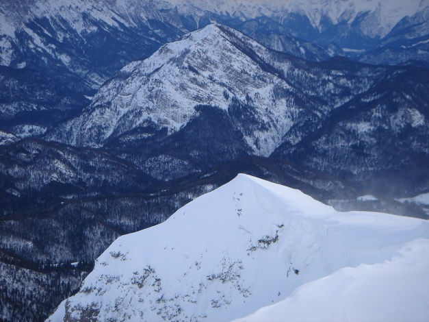 Foto: Manfred Karl / Ski Tour / Gamsknogel / Gamsknogl, 1750 m / Gipfelgrat gegen Ristfeuchthorn / 30.01.2009 21:34:43