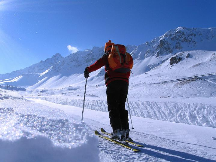 Foto: Andreas Koller / Ski Tour / Impressionen am Flüelapass (2606 m) / 09.02.2009 00:58:13