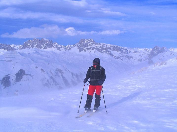 Foto: Andreas Koller / Ski Tour / Von der Madrisa aufs Rätschenhorn (2703m) / Aufstieg aufs Gipfelplateau / 10.02.2009 19:46:36