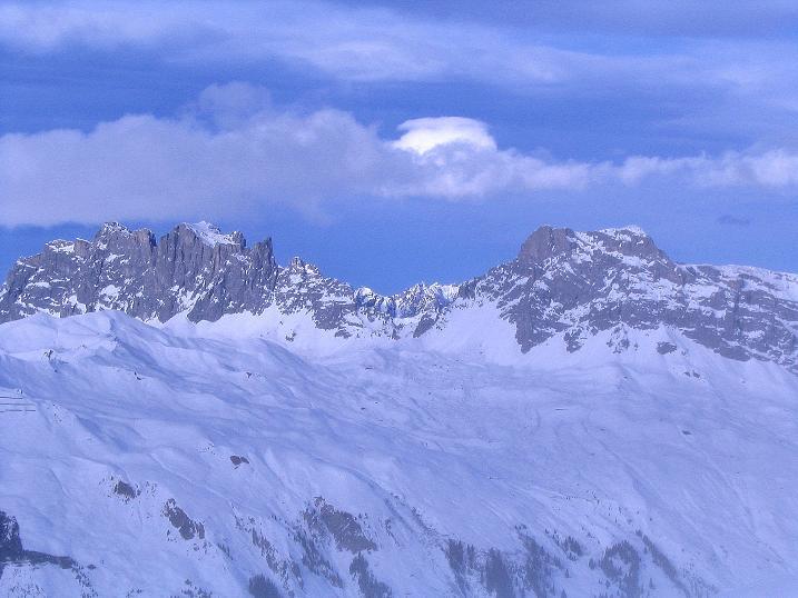 Foto: Andreas Koller / Ski Tour / Von der Madrisa aufs Rätschenhorn (2703m) / Drusenfluh (2834 m) und Sulzfluh (2818 m) / 10.02.2009 19:45:59