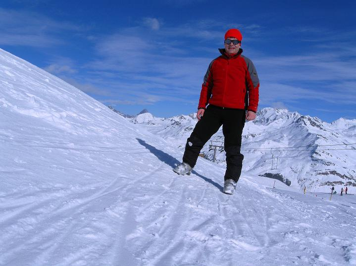 Foto: Andreas Koller / Ski Tour / Piz Turba (3018m) / Bei der Bergstation der Schlepplifte von Bivio / 09.02.2009 23:28:57