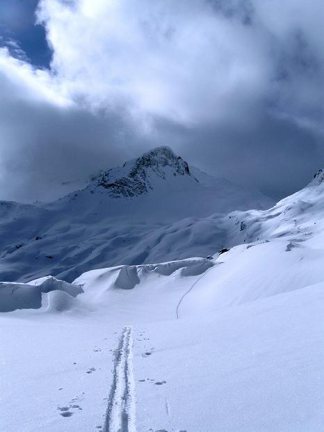 Foto: Andreas Koller / Ski Tour / Piz Turba (3018m) / Unterhalb des Sur al Cant (2848 m) / 09.02.2009 23:26:20