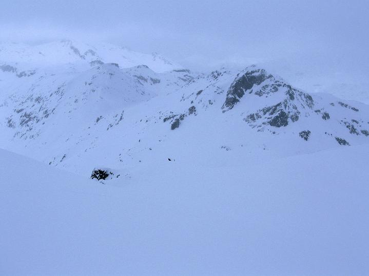 Foto: Andreas Koller / Ski Tour / Piz Turba (3018m) / Sur al Cant (2848 m) im Nebel / 09.02.2009 23:23:29