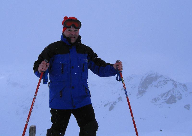 Foto: Andreas Koller / Ski Tour / Piz Turba (3018m) / Am Gipfel bei total schlechter Sicht / 09.02.2009 23:23:08