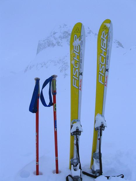 Foto: Andreas Koller / Ski Tour / Piz Turba (3018m) / Skidepot / 09.02.2009 23:22:43