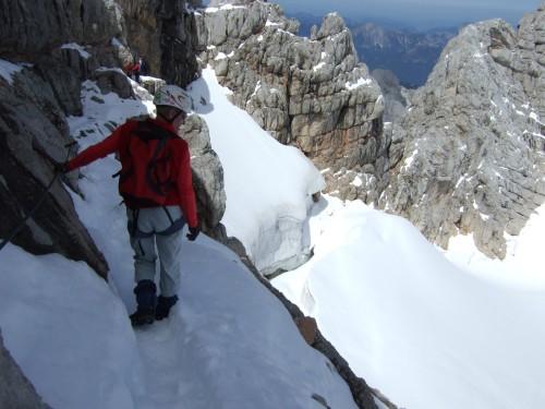 Foto: hofchri / Wander Tour / Hoher Dachstein (2995 m) von der Bergstation Hunerkogel (2687 m) / Übergang zum Randkluftsteig / 10.02.2009 19:03:18