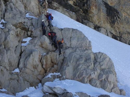Foto: hofchri / Wander Tour / Hoher Dachstein (2995 m) von der Bergstation Hunerkogel (2687 m) / Abstieg über Randkluftsteig (B) / 10.02.2009 19:04:59
